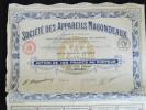 Action 100 Francs Societe Des Appareils Magondeaux Siege Social à Paris 15/07/ 1925 - Automobile