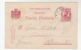 1911 ROMANIA Postal STATIONERY CARD  Pmk GARA To Germany  Cover Stamps - 1881-1918: Charles I