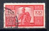 Y578 - Italia 1946 Usato - Democratica £ 100 - 6. 1946-.. Repubblica