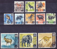 2015-0510 Lot Definitives Kenia Animals 1966 Used O - Kenia (1963-...)
