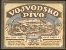 Serbia Hungary VOJVODSKO PIVO Beer Label C.1930 JOSEF AMAN BREWERY - Bière