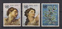 VATICANO     1970       NAZIONI UNITE       SASS. 492-494       MNH    XF - Vaticano