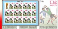 Rwanda 0578**  20c  Coupe Du Monde De Football à Munich -  Feuille / Sheet De 20 MNH + Label - Rwanda