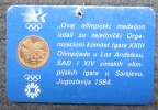 """OLYMPIC MEDALION """" SARAJEVO - LOS ANGELES """" 1984 - Apparel, Souvenirs & Other"""