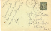 CACHET PERLE    SERRAVAL  HAUTE SAVOIE  31/07/1922   SUR CPA - Cachets Manuels