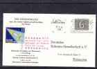 Pays Bas - Carte Postale De1961 - Oblitération Venlo - Avec Vignette Allemande - Vol Par Fusée - Period 1949-1980 (Juliana)