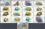 1966 SHARJAH Michel 316-34** Poissons ,surchargé Nouvelle Monnaie - Schardscha