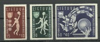 LITHUANIA Litauen 1939 Basketball Michel 429 - 431 MNH - Litouwen