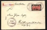 Belgien,Nr.25 Auf überfrankierten Brief,Mi. Hierfür 400,-    (8889) - Besetzungen 1914-18