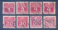 1908 Austria, 8 Fiscal Stamps, Mi 34 Until 37, 40, 42 & 44, Used & Hinged, CV 4.3 Euro, VF - 1850-1918 Imperium