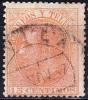 10-141 1882 ED. 210 USADO FECHADOR TIPO PUENTE DE ÁVILA NEGRO RARO SPAIN SPANIEN - 1850-68 Königreich: Isabella II.
