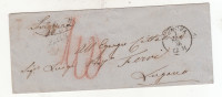 1856 - Bustina In Porto Assegnato Da Genova Per Lugano - Sardinia