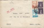 Lettre Galata Turquie Pour Paris 1946 - 1921-... Republiek