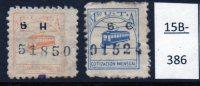Argentina : Tramway Trade Union Contribution Stamp : 1.50 Pesos Orange; 1.50 Pesos Blue. No Gum (2) - Tramways