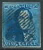 N�2, 20c bleu belles marges r�guli�res Distribution 17 Frasnes. Superbe sign� W Balasse