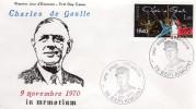 """De Gaulle - EPJ:  10e Anniv. Du Décès Du Général - """"Expo à  Berlaimont 59,  Le 9/11/80 - De Gaulle (Général)"""