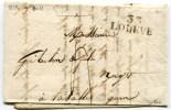 HERAULT De LODEVE LAC Du 06/07/1823 Linaire 28x11 - Marcophilie (Lettres)