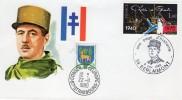 """De Gaulle - EPJ:  10e Anniv. Du Décès Du Général - """"Expo à  Berlaimont  Le 9/11/80 - De Gaulle (Général)"""