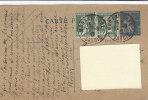 A3328 - FRANCIA  Coppia Valori Su Cartolina Postale Affrancata  VG Modane-Massa Carrara 22/03/1927 - Storia Postale