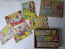 Jeu De Cube Ancien En Bois  - Complet Avec Fiches  - Thème Enfantina - Année 30 - - Andere Sammlungen