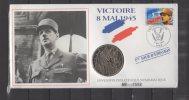 Enveloppe FDC Philatelique Numismatique - Victoire 8 Mais 1945 -  8 / 05 / 1995 - FDC