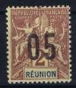 REUNION   Yv Nr 72 A MH/*, Avec  Charnière , Mit Falz, Chiffres Espaces - Ongebruikt