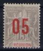 REUNION   Yv Nr 73 A MH/*, Avec  Charnière , Mit Falz, Chiffres Espaces - Ongebruikt