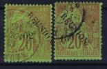 REUNION   Yv Nr 29 + 30 Obl Used - Reunion Island (1852-1975)