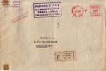 TAHITI - EMA ROUGE PAPEETE RP ILE TAHITI 17-10-60 - TARIF 86F - LETTRE AVION - 1er ESCALE SUR L´AERODROME INTERNATIONAL - Tahiti