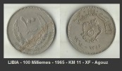 LIBIA - 100 Milliemes - 1965 - KM 11 - XF - Agouz - Libya