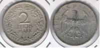 ALEMANIA  DEUTSCHES REICH 2 MARK A 1926 PLATA SILVER R - [ 2] 1871-1918 : Imperio Alemán