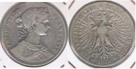 ALEMANIA  FRANKFURT THALER  1859 PLATA SILVER R - Taler Et Doppeltaler