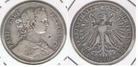 ALEMANIA  FRANKFURT THALER  1860 PLATA SILVER R - Taler Et Doppeltaler