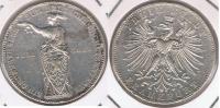 ALEMANIA  FRANKFURT THALER  1862 PLATA SILVER R - Taler Et Doppeltaler