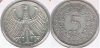 ALEMANIA 5 DEUTSCHE MARK  1966 G PLATA SILVER R - [ 7] 1949-… : RFA - Rep. Fed. Alemana
