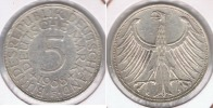 ALEMANIA 5 DEUTSCHE MARK  1968 F PLATA SILVER R - [ 7] 1949-… : RFA - Rep. Fed. Alemana