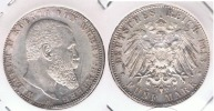 ALEMANIA WUERTTEMBERG DEUTSCHES REICH 5 MARKF 1913 PLATA SILVER R - [ 2] 1871-1918 : Imperio Alemán
