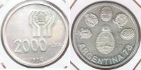 ARGENTINA 2000 PESOS 1978 PLATA SILVER R - Argentina