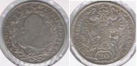AUSTRIA IMPERIO 20 KREUZER 1782 PLATA SILVER R - Austria