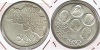 BELGICA 500 FRANCS 1980 PLATA SILVER R - 1951-1993: Baudouin I