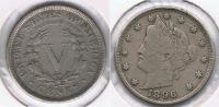 EE.UU. USA 5 CENTS  DOLLAR 1896 R - EDICIONES FEDERALES