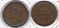 EE.UU. USA CENT DOLLAR 1854 R BONITA - EDICIONES FEDERALES