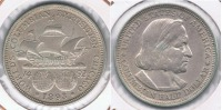 EE.UU. USA HALF DOLLAR 1893 PLATA SILVER R BONITA - EDICIONES FEDERALES