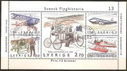 Suede Zweden Sweden 1984 1985  Yvertn° Bloc 12 (°) Oblitéré Used Cote 6 Euro - Hojas Bloque