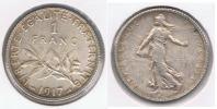 FRANCIA FRANCE  FRANC  1917 PLATA SILVER R. BONITA - Francia