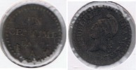 FRANCIA FRANCE 1 CENTIME FRANC A AN 7  R - 1789 – 1795 Monedas Constitucionales