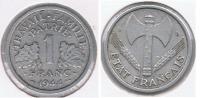 FRANCIA FRANCE 1 FRANC K 1944 B  R - Francia