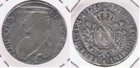 FRANCIA LOUIS XVI ECU PARIS 1785  A PLATA SILVER R. - 1715-1774 Louis XV Le Bien-Aimé