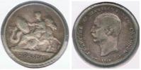 GRECIA DRACMA 1910 PLATA SILVER R - Grecia