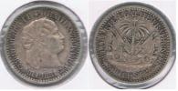HAITI 10 CENTS PESO 1881 PLATA SILVER R - Haití